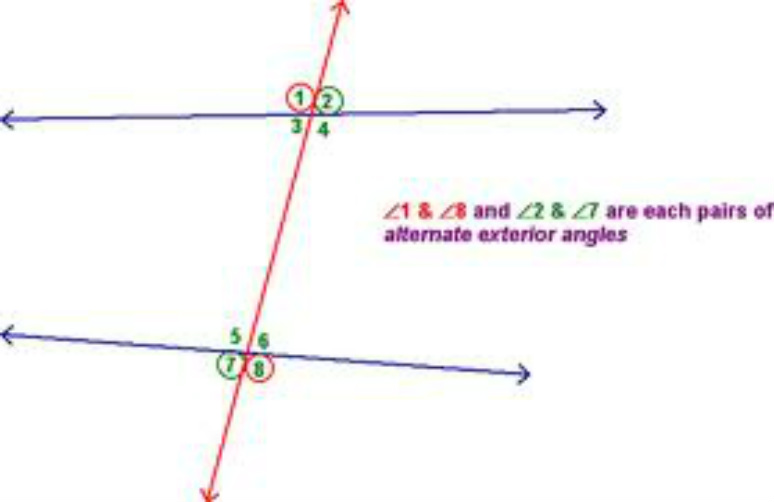 Unit 1 transformation congruence and simliarty math is for Exterior of an angle definition